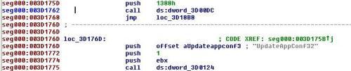 FIgure 2 - Code opened on IDA as a binary file